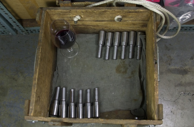 Wine time after completing the shank turning operation on 23 tube mitre cutters in ASP 2004 Powder Metal metallurgy.