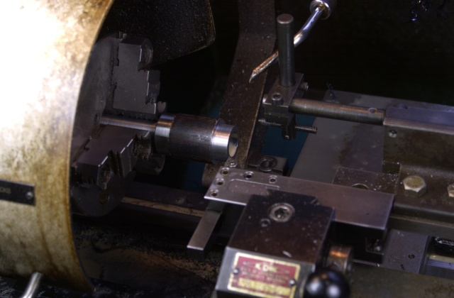38.1mm brazed carbide mitre cutter body lathe turning to accept the carbide ring.