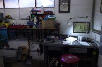 October, 2018 Strawberry Garage design desk northeast corner.