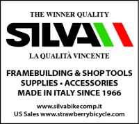 "Silva was founded in 1966 by Mr. D'Andrea Silvano whose work in both ferrous and special alloys for high-end bicycle accessories early on caught the attention of the great masters of framebuilding such as Colnago, De Rosa, Olmo, Bianchi, etc. In the 1980's SILVA acquired a small company which produced handlebar tape and with the creativity and innovation in Mr. Silvano's soul developed the famous cork handlebar tape of worldwide renown. In addition to handlebar tape, SILVA developed a line of production quality tools for both bicycle framebuilding and bicycle shop mechanics. In 1999 SILVA obtained the UNI EN ISO 9002/9190SILS guarantying the highest quality of materials, design and production of SILVA products. Today SILVA continues to manufacture its products from raw materials to packaging, all ""Made in Italy"". Strawberry seeks to import and distribute as much as possible of the SILVA line of products throughout USA."