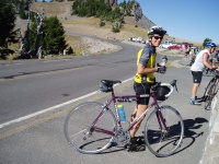 2007 Cycle Oregon.  Shirley rode the rim with our group on her new Sweetpea bicycle.