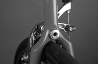 BQ advert Vol.7 no. 2, 2009.  LAN71 investment cast wishbone rear triangle/Campag Record brake/rear wheel pic.