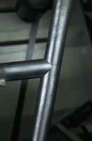 Detail shot of top tube fit to seat tube on frame no. 7018 prior to lug brazing.  Preform brass brazing rings have previously been inserted and silver tack brazed to both ends of the top tube to allow for internal brazing.