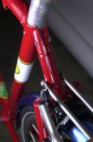 Seat lug topstay binder detail.