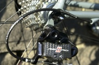 Detail of rear Campag Record mech.  Ritchey dropouts.