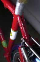 Topstay/seatpost binder detail.