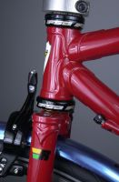 Head tube/LAN71 fork crown detail.