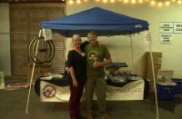 2016 Handmade Bike and Beer Festival.  My wife Kelley and Ron Suphin of UBI.