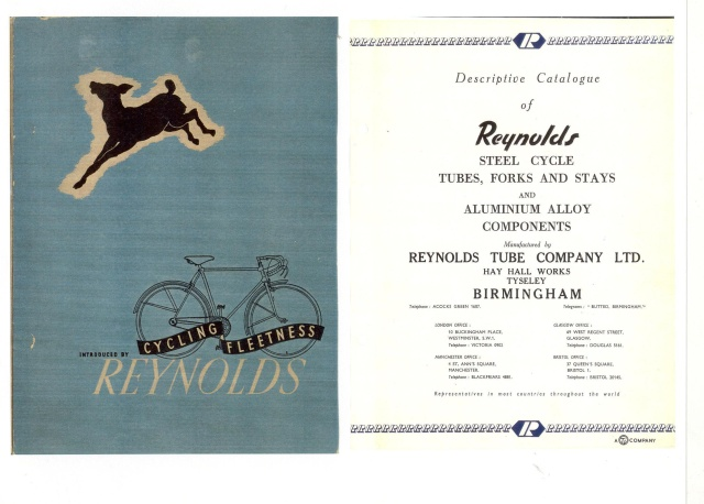 REYNOLDS TRADE-CATALOGUE-COVER-C1920.  We just received a number of historic pieces of Reynolds trade brochures which will soon be featured on the Torch and File website.  Here is one from 1920.