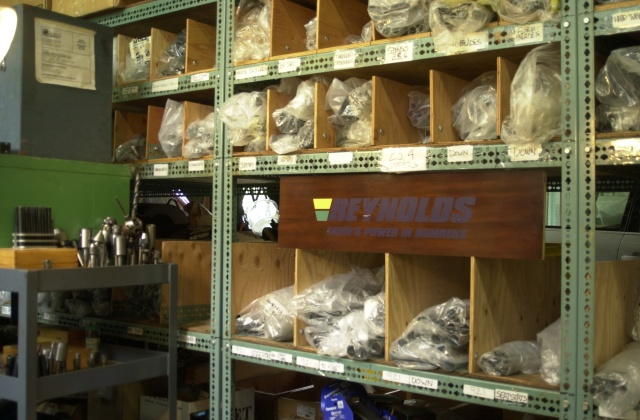April 2018 Reynolds inventory in the Torch and File Warehouse.