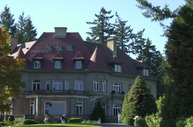Pittock Mansion Walk, Autumn 2006.  Another look at the Pittock Mansion.
