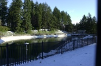 Washington Park Reservoir no. 4, December, 2008.  View to the south.