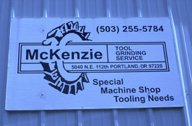 McKenzie sign.  McKenzie website:  www.mckenzietool.com