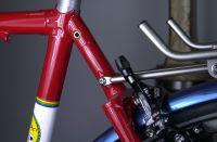 Seat lug and wishbone detail.