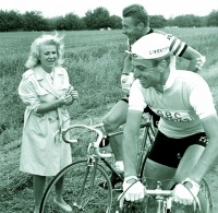 VanLooy and Jacques Anquetil and friend.