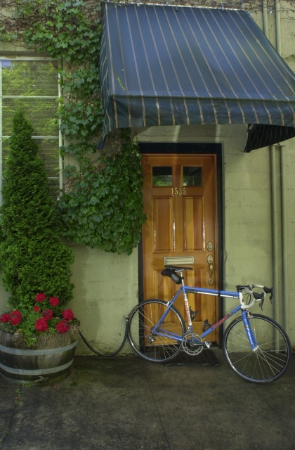 Strawberry World Headquarters, 2010.  Farewell to my old 650C bicycle.