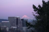 Mt. Hood over Portland 5:57pm Feb. 2006.