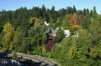 Pittock Mansion Walk, Autumn 2006.  View to the west from the Vista Bridge.